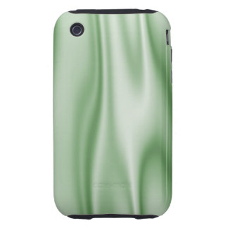 Graphic design of Light Green Satin Fabric iPhone 3 Tough Covers