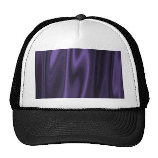 Graphic design of Purple Satin Fabric Trucker Hat