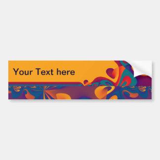 Graphic Design Pattern - violet orange + your text Bumper Sticker
