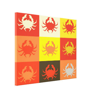 Graphic design Pop Art with Crabs 5 Gallery Wrap Canvas