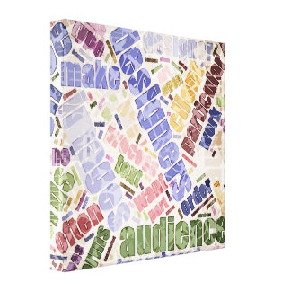 Graphic Design Word Cloud Stretched Canvas Prints