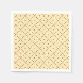 Graphic Design Yellow Pattern Paper Napkin