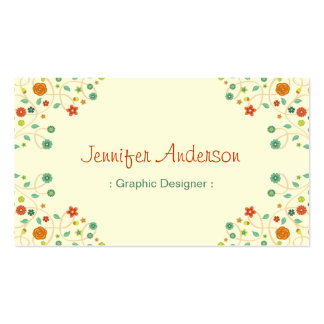 Graphic Designer - Chic Nature Stylish Pack Of Standard Business Cards
