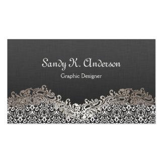 Graphic Designer - Elegant Damask Lace Pack Of Standard Business Cards