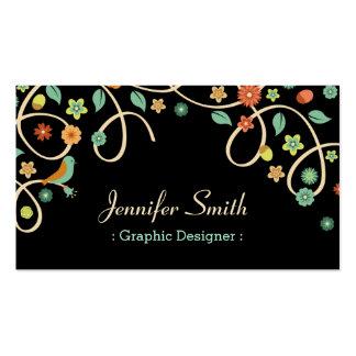 Graphic Designer - Elegant Swirl Floral Pack Of Standard Business Cards