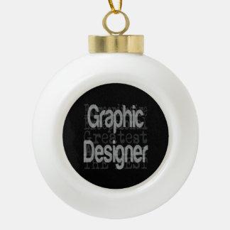 Graphic Designer Extraordinaire Ceramic Ball Decoration