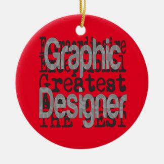 Graphic Designer Extraordinaire Round Ceramic Decoration