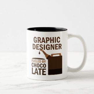 Graphic Designer (Funny) Chocolate Two-Tone Mug