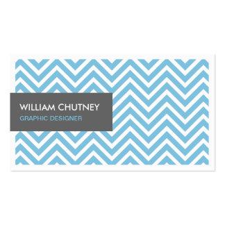 Graphic Designer - Light Blue Chevron Zigzag Pack Of Standard Business Cards