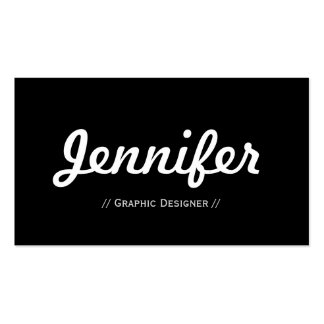 Graphic Designer - Minimal Simple Concise Pack Of Standard Business Cards