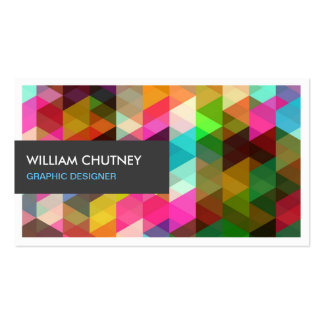Graphic Designer Modern Colorful Abstract Pattern Pack Of Standard Business Cards