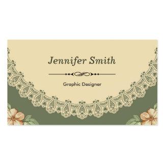 Graphic Designer - Vintage Chic Floral Pack Of Standard Business Cards