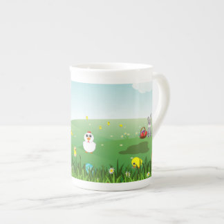 graphic Easter landscape Tea Cup