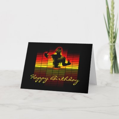graphic equalizer birthday card - music birthday   Zazz