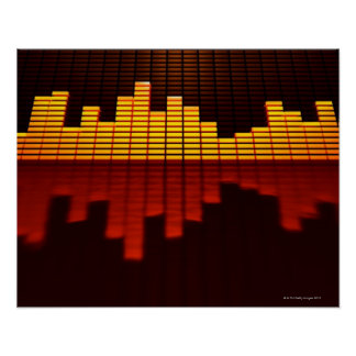 Graphic Equalizer Display Poster