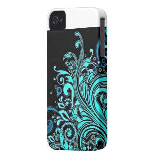 Graphic floral design iPhone 4 Case-Mate case
