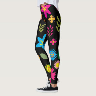 Graphic floral patterns leggings