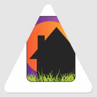 Graphic for home renovation or real estate triangle sticker