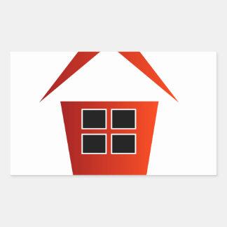 Graphic for real estate rectangular sticker