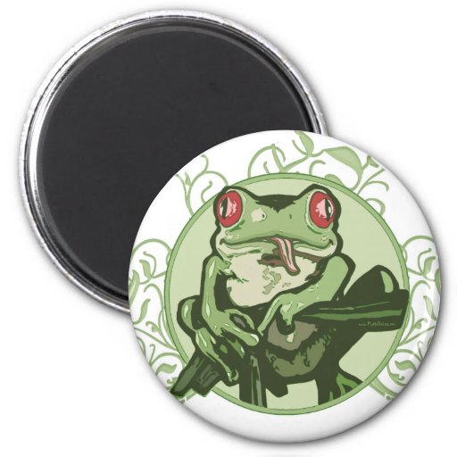 Graphic Frog by Mudge Studios Refrigerator Magnets