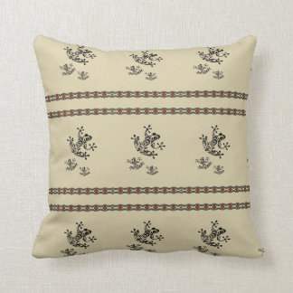 Graphic Frog Throw Pillow