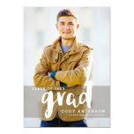 Graphic Grad Modern Brush Lettered | Graduation 13 Cm X 18 Cm Invitation Card