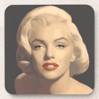 Graphic Gray Marilyn Beverage Coaster