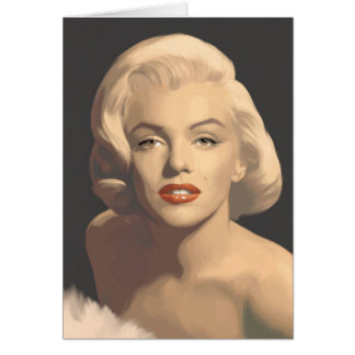 Graphic Gray Marilyn Card