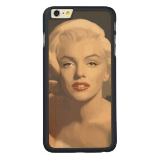 Graphic Gray Marilyn Carved Maple iPhone 6 Plus Case