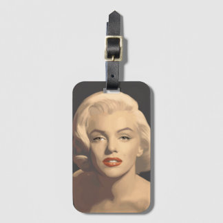 Graphic Gray Marilyn Luggage Tag