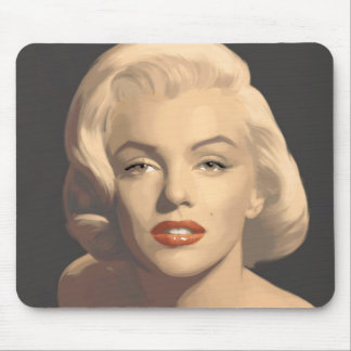 Graphic Gray Marilyn Mouse Mat