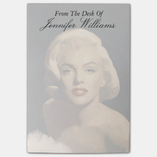 Graphic Gray Marilyn Post-it Notes