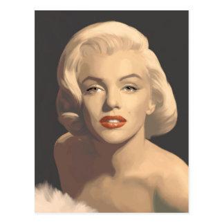 Graphic Gray Marilyn Postcard