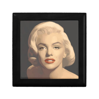 Graphic Gray Marilyn Small Square Gift Box