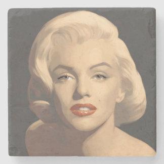 Graphic Gray Marilyn Stone Coaster