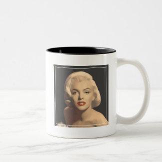 Graphic Gray Marilyn Two-Tone Coffee Mug