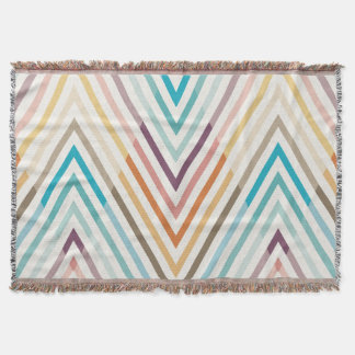 Graphic Lines Modern Colorful Geometric Throw Blanket