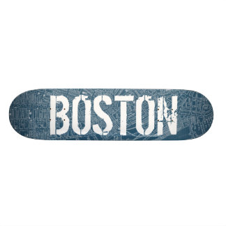 Graphic Map of Boston 20.6 Cm Skateboard Deck