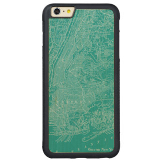 Graphic Map of New York Carved Maple iPhone 6 Plus Bumper Case