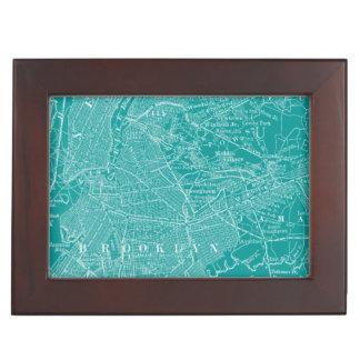 Graphic Map of New York Keepsake Box