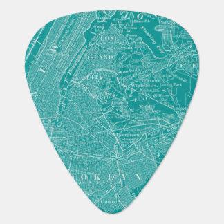 Graphic Map of New York Plectrum