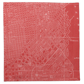 Graphic Map of San Francisco Napkin