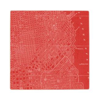 Graphic Map of San Francisco Wood Coaster