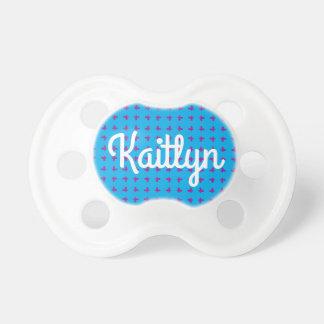 Graphic Mini Butterflies   Blue Baby Pacifier