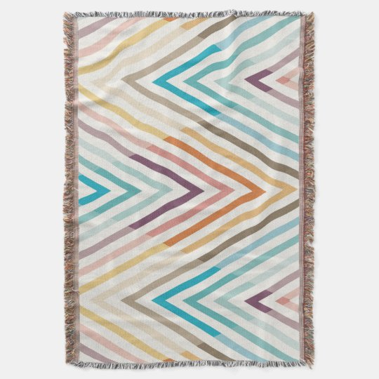 Graphic Modern Colourful Geometric Throw Blanket