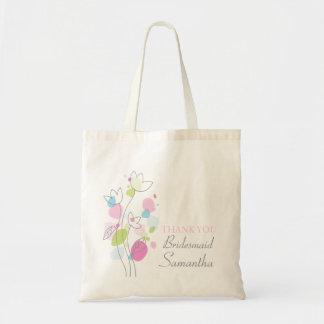 Graphic modern flower wedding bridesmaid bag