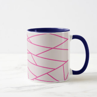 Graphic mug with stripes