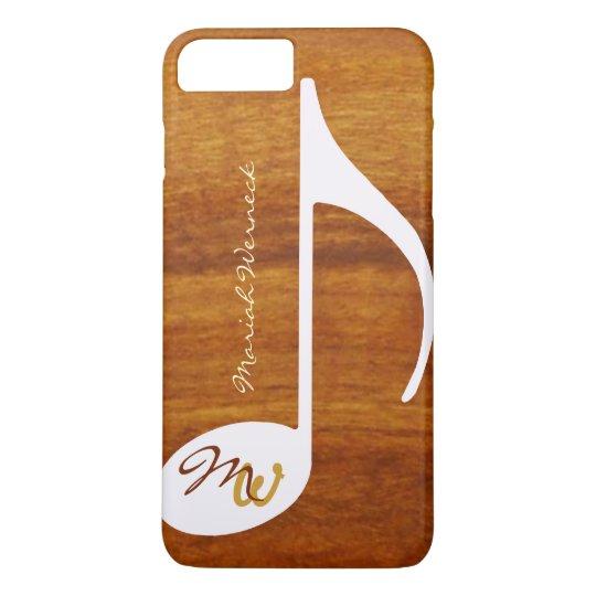 graphic music wood style iPhone 8 plus/7 plus case