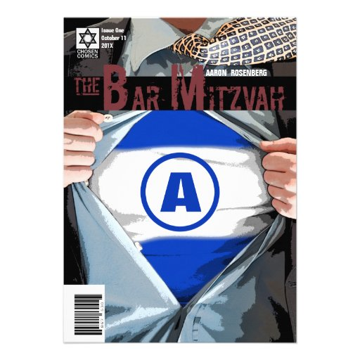 Graphic Novel Bar Mitzvah Invitation