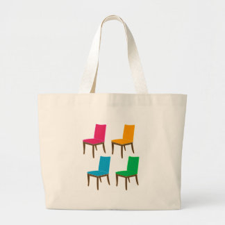 Graphic of a dining chair jumbo tote bag